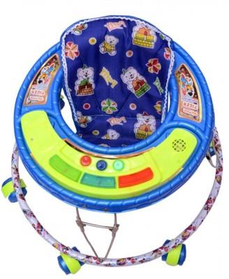 Kusum Enterprises Blue Musical Tiger Baby Walker (Blue)