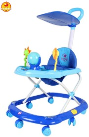 BAYBEE SunnyDay Walker with Canopy and Parent Control (Blue)