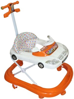 Panda Orange And White baby car walker with handle (White)