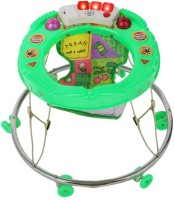 New Natraj Pamper Musical Baby Walker (Green)
