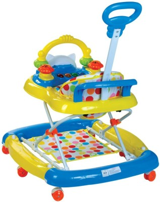 Mee Mee Walker Cum Rocker with Parents Push Handle (Yellow, Blue)