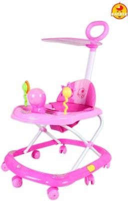 BAYBEE SunnyDay Walker with Canopy and Parent Control (Pink) (Pink)