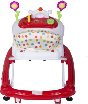 EZ' PLAYMATES HAPPY BABY WALKER WHITE/RED (White, Red)