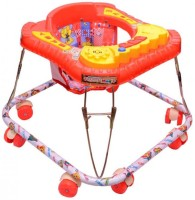 Kusum Enterprises Square Musical Baby Walker (Red) (Red)