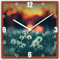 StyBuzz Flower Focus Analog Wall Clock (Multi Color)