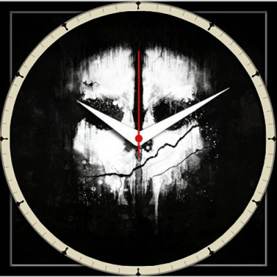 Shopmillions Black And White Analog Wall Clock Multicolor