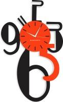 Blacksmith Black Orange Big Numbers Analog Wall Clock Black