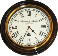 E-Studio Franklin And Murphy Analog Wall Clock Black, Brass