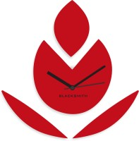 Blacksmith Red Flower Vector Analog Wall Clock Red
