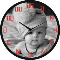 Regent Black And White Kid Analog Wall Clock (Black)