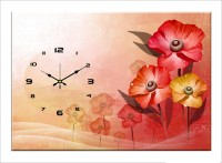 Design O Vista Single Panel - DV1-M-R4137 Analog Wall Clock (Multicolor)