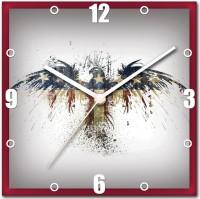 StyBuzz Serene Painting Analog Wall Clock (Multicolor)