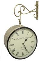 Prachin Analog 20.5 Cm Dia Wall Clock Brass, With Glass