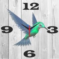 Go Hooked Kingfisher Bird Printed Analog Wall Clock Multicolor