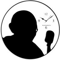 Blacksmith White Black Mahatma Gandhi Analog Wall Clock White
