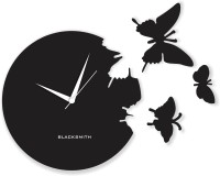 Blacksmith Butterfly Black Analog Wall Clock Black