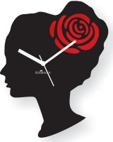 Zeeshaan Pretty Woman Black And Red Analog Wall Clock Black, Red