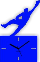 Zeeshaan Cricket Caught You Blue Analog Wall Clock (Blue)