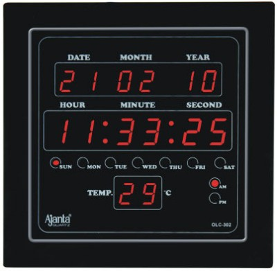 Ajanta olc 302 digital led wall clock calender temperature for Led digital wall clock in india
