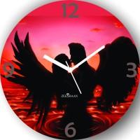 Zeeshaan Love Birds Analog Wall Clock (Multicolor)