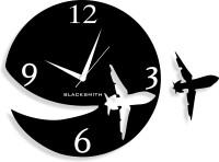 Blacksmith Aeroplane Black Analog Wall Clock Black