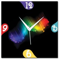 Rainbow Amore Rainbow Abstract 107264 Analog Wall Clock (Multicolor)
