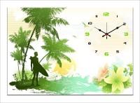 Design O Vista Single Panel - DV1-S-R4272 Analog Wall Clock (Multicolor)