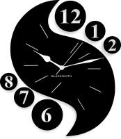 Blacksmith Black Designer Analog Wall Clock Black