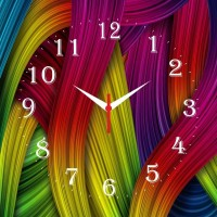 Go Hooked Colorful Printed Analog Wall Clock Multicolor