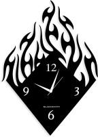 Blacksmith Flame Black Analog Wall Clock Black