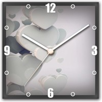 StyBuzz Heart In White Analog Wall Clock Multicolor