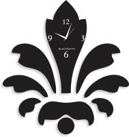 Blacksmith Vector Flower Black Analog Wall Clock Black