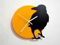 Blacksmith Crow Analog Wall Clock (Black, Yellow)