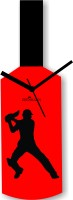 Zeeshaan Cricket Master Blaster Style Analog Wall Clock Red, Black