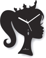 Zeeshaan Crown Princess Black Analog Wall Clock Black