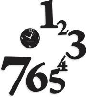 Blacksmith 1 To 7 Luxury Black Analog Wall Clock Black