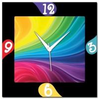 Rainbow Amore Rainbow Abstract 107244 Analog Wall Clock (Multicolor)