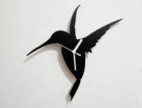 Blacksmith Hummingbird Analog Wall Clock (Black)