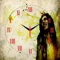 Go Hooked Bob Marley Printed Analog Wall Clock Multicolor