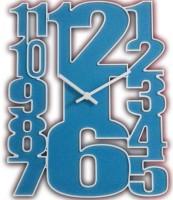 Onatto Big Numbers Wall Clock. Analog Wall Clock (Light Blue)