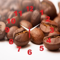 Go Hooked Coffee Beans Print Analog Wall Clock Multicolor