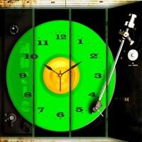 Go Hooked DJ Green Printed Analog Wall Clock Multicolor