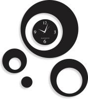 Blacksmith Multi Round Black Analog Wall Clock Black