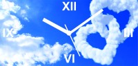 Zeeshaan Love In The Sky Analog Wall Clock Multicolor