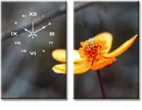 Design O Vista Double Panel DV2-L-R8161 Analog Wall Clock (Multicolor)