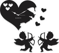 Blacksmith Cupid Black Analog Wall Clock Black