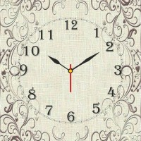 Go Hooked Classic Printed Analog Wall Clock Multicolor