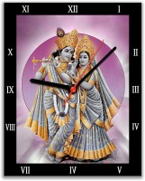 Lovely Collection Krishna And Radha Religious Analog Wall Clock (Multicolor)