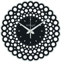 Random Web World Circle (Black) Analog Wall Clock Black
