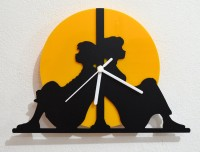 Blacksmith Do You Want To Build A Snowman Analog Wall Clock (Black, Yellow)